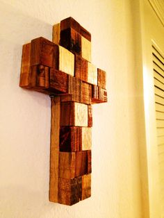 Rustic Wooden Crosses | Rustic Cross: Beautiful Rustic Cross created from the Scraps of the ...