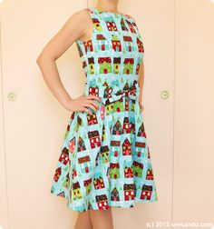 Make a ModCloth style dress for a fraction of the price at Sew Can Do