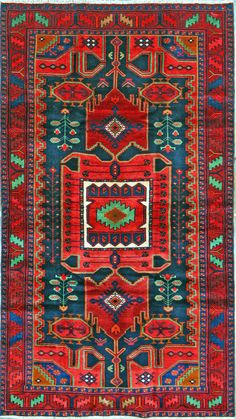 Buy Hamadan Persian Rug x Authentic Hamadan Handmade Rug Affordable Rugs, Magic Carpet, Persian Rug, Handmade Rugs, Bohemian Rug, Area Rugs, Old Things, Tapestry, Pillows
