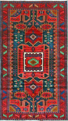 Buy Hamadan Persian Rug x Authentic Hamadan Handmade Rug Affordable Rugs, Magic Carpet, Persian Rug, Handmade Rugs, Bohemian Rug, Area Rugs, Old Things, Tapestry, Pillows