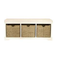 Cottage Cream Storage Bench | Dunelm Mill