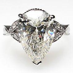 4 Carat pear cut diamond...