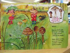 pojdte-s-nami-na-houby_in_6 Elementary Science, Preschool, Education, Comics, Fictional Characters, Autumn, Literatura, Nature, Fall Season
