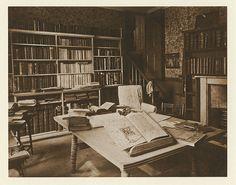 William Morris's study at Kelmscott, 1896