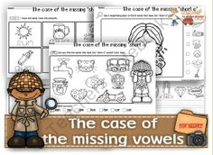 The case of the missing vowels from Ingles360 on TeachersNotebook.com -  (50 pages)  - Let your kids use their phonic skills to solve the mystery!