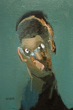 Artist Daniel Ochoa portrait oil on paper, 2017 Figure Painting, Painting & Drawing, Painting Inspiration, Art Inspo, Totems, Art Alevel, Portrait Art, Portraits, Art Of Man