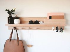 Home Architecture : Entryway Organizer – Wall mount coat rack Decor housewarming gift for home Mail holder entryway organiser key holder entryway shelf Entryway Coat Rack, Entryway Shelf, Coat Rack Shelf, Entryway Wall Decor, Entryway Organization, Wall Mounted Coat Rack, Coat Hanger, Coat Pegs, Entryway Wall Organizer