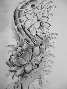 Discover recipes, home ideas, style inspiration and other ideas to try. Lotus Tattoo Design, Sketch Tattoo Design, Flower Tattoo Designs, Tattoo Sketches, Flower Tattoos, Tattoo Drawings, Lotus Tattoo Men, Japanese Flower Tattoo, Japanese Tattoo Designs