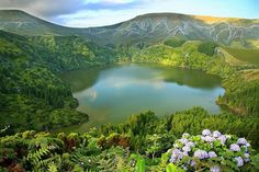 Lagoa Funda Ilha das Flores Açores Portugal