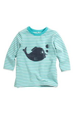 Super fede Name it T-shirt Vux mini Blågrøn Stribet Name it T-shirt til Børn & teenager i lækker kvalitet