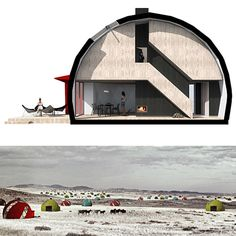 Geodesic dome homes are nothing new, but few can boast being both as robust and attractive as this proposal by NRJA. It boasts cheap but strong materials and prefabricated parts for quick construction in remote locations. Unlike its (albeit more portable) traditional cousins, the DOM (E) is desi ...