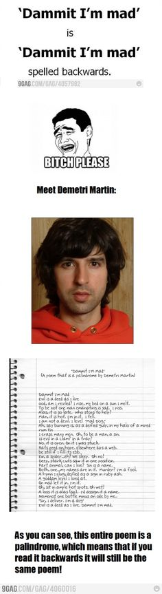 Demetri Martin, I love you.