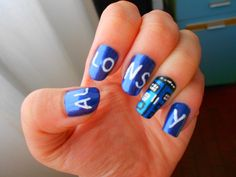 Doctor Who Nails   Allons Y!