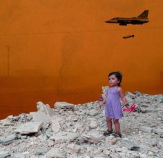 Syrian artist Tammam Azzam delves into memory and conflict while reflecting on the civil war-torn country. Syrian Civil War, Civil War Art, Political Art, Political Events, Banksy, Uppercase Magazine, Vice News, Cradle Of Civilization, Best Street Art