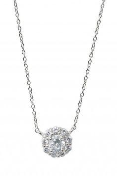 Stella & Dot Glint flower CZ necklace