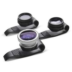 """""""The Four Corner Store has released a new trio of lenses that you can just slip on your iPhone, iPad or almost anything with a tiny lens and start shooting."""" Gizmon Clip-On Fisheye, Polarizing or Mirage Lenses for iPhone and iPad"""