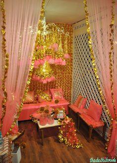 The Rani Pink Room - Pink and Gold Theme Decor - Event Decor - Wedding Decor - Rani Pink Garden Wedding Decorations, Decor Wedding, Wedding Blog, Dream Wedding, White And Gold Decor, Housewarming Decorations, India Decor, Mehndi Decor, Wedding Wall