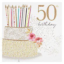 303 best milestone birthday card ideas images on pinterest in 2018 buy portfolio cake 50th birthday card online at johnlewis m4hsunfo