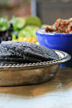 How to Make Fresh Blue Corn Tortillas at Home - Ready to Eat www.compassandfork.com