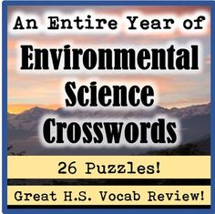 This bundle contains 27 crossword puzzles that are perfect for any high school environmental science course (general or AP!) I give these to my students before tests as a fun vocabulary review. This incredible deal includes five smaller products: Volume One- Environmental Science Basics (5 puzzles)Volume Two-Evolution and Ecology (5 puzzles)Volume Three-Human Impact (6 Puzzles)Volume Four-Natural Resources (5 puzzles)Volume Five-Atmospheric Science and Climate Change (5 Puzzles)...
