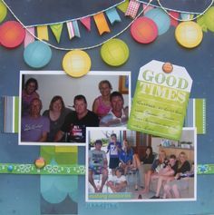 Good Times page created with BoBunny Lemonade Stand by Leonie for My Scrappin' Shop. #BoBunny