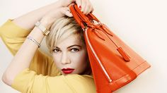 Michelle Williams campaigning for Louis Vuitton spring-summer 2014 (photographed by Peter Lindbergh)