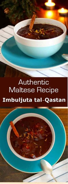 Imbuljuta tal-Qastan is a traditional hot and spiced cocoa-based Maltese drink served after midnight mass at Christmas and at New Year's Eve. #christmas #beverage #chocolate #malta #196flavors