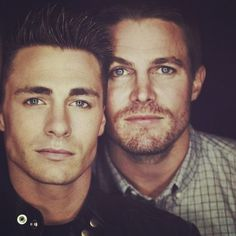 Colton Haynes and Stephen Amell