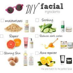DIY facial options
