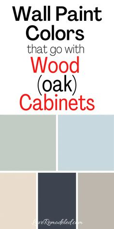 Small Bathroom Paint Colors, Paint For Kitchen Walls, Laundry Room Colors, Kitchen Paint Colors, Wall Paint Colors, Paint Colors For Living Room, Honey Oak Cabinets, Oak Kitchen Cabinets, Bathroom With Oak Cabinets