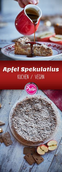 Speculoos with apples / vegan - Speculoos with apples / vegan, # apples . - Speculoos with apples / vegan – Speculoos with apples / vegan, # Apples – - Vegan Apple Muffins, Vegan Apple Cake, Cake Vegan, Apple Pie, Healthy Cake Recipes, Baby Food Recipes, Sweet Recipes, Muffin Recipes, Apple Filling