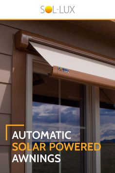 Smart Home Window Awnings by Sol-Lux - Rooftop Garden Home Renovation, Home Remodeling, Marquise, Home Repairs, Diy Home Improvement, Home Projects, My House, Outdoor Living, House Plans