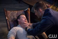 "Supernatural -- ""The Things They Carried"" -- Image SN1015A_0188 -- Pictured (L-R): Travis Aaron Wade as Cole and Jensen Ackles as Dean -- Credit: Liane Hentscher/The CW --  © 2015 The CW Network, LLC. All Rights Reservedpn"