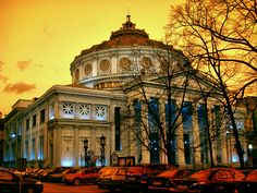 The Romanian Athenaeum building is considered to be a symbol of Romanian culture and since 2007 is on the list of the Label of European Heritage sights. Hotels In Romania, Visit Romania, Wonderful Places, Beautiful Places, Amazing Places, Little Paris, Bucharest Romania, Tourist Places, Eastern Europe