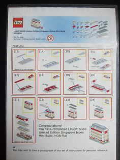 LEGO SG50 Limited Edition Singapore Icons Mini Build - HDB Flat - Instructions - 2 of 2