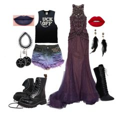 """""""raven queen and the evil queen"""" by smolxboi ❤ liked on Polyvore featuring art"""
