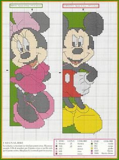 A bookmark with Disney Mickey and Minnie Mouse (2)