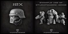 New sturmpioniere heads are available: https://puppetswar.eu/product.php?id_product=744