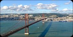 Lisbon, Portugal: 25 de Abril Bridge. Completed in 1966 and originally named after dictator Salazar, this suspension bridge across the Tagus River changed its name after the revolution of April 25, 1974.