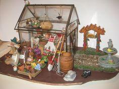 Miniature Dollhouse Garden Center Green House