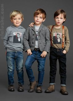Quality and Affordable T-Shirts For Boys Fashion Kids, Little Boy Fashion, Baby Boy Fashion, Fashion Check, Trendy Fashion, Toddler Outfits, Boy Outfits, Little Man Style, Dolce And Gabbana Kids