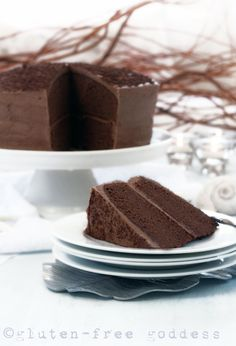 Gluten-Free Chocolate Layer Cake (also dairy-free)