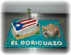 Puerto Rico Island with Coqui Puerto Rico Island, San Juan Puerto Rico, Beautiful Cakes, Amazing Cakes, Lechon, Puerto Rican Recipes, Puerto Ricans, Piece Of Cakes, Edible Art