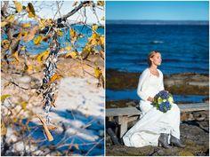 Autumn wedding portraits #wedding #outdoor #hydrangea #brideportrait #bouquets #bride #portraits #fall #weddingportraits #autumn #fall #october #nature #naturallight #ocean #swedish #weddingphotographer Höstbröllop Mölle  Skåne, Sweden. [Photo by Anna Lauridsen Kullafoto]