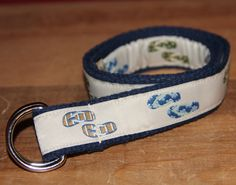 Girls D-Ring Belt - Toddler Children Kids - Flip Flop Woven Ribbon. $10.50, via Etsy.