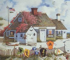 Nantucket Fliers. Charles Wysocki.