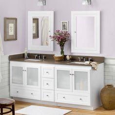 Ronbow 080830-1 Shaker 72 in. Double Bathroom Vanity Set