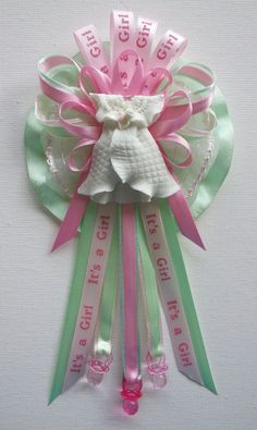 Owl Mommy Baby Shower Corsage In Pink