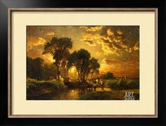 Medfield, Massachusetts Giclee Print by George Inness at Art.com