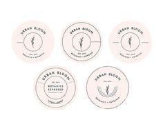 Urban Bloom - Florist & Coffee Shop - Brand, Typography, Logo Design Inspiration - Badge - Pink, Black